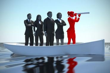 Women business leader steering ahead