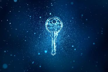 Image of digital encryption key