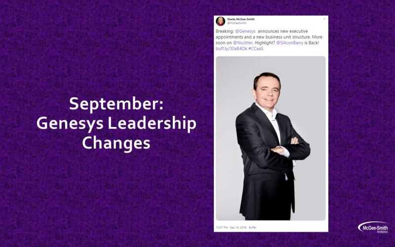 Genesys leadership changes