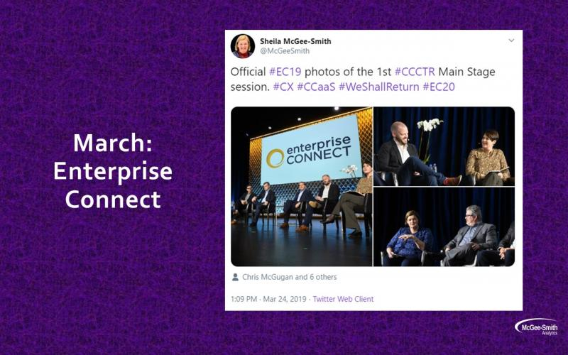 Enterprise Connect 2019 contact center panel