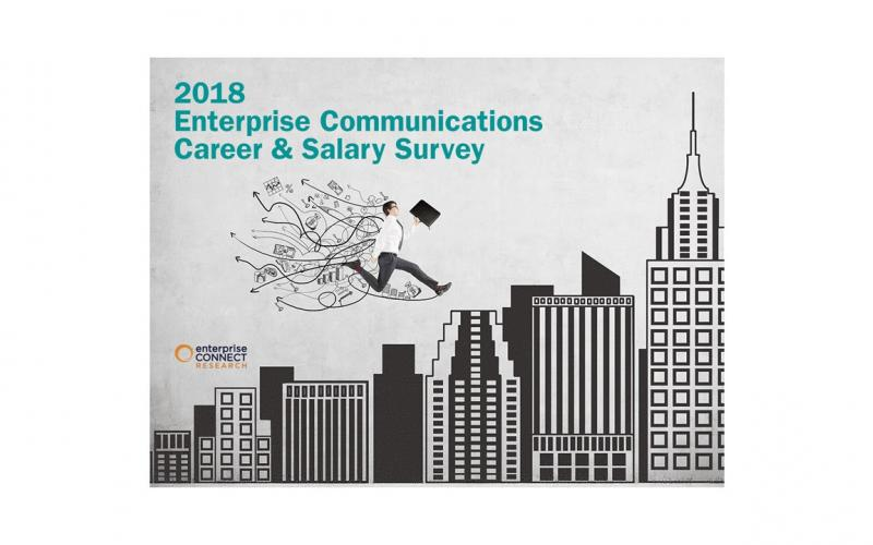 Enterprise Connect Research 2018 Career & Salary Survey cover slide
