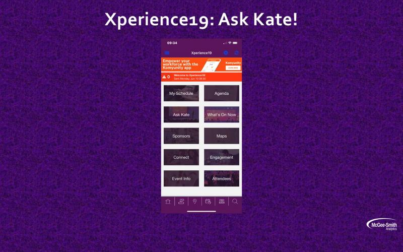 Xperience 19: Ask Kate