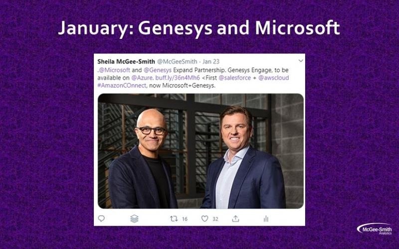 Photo of Microsoft, Genesys CEOs