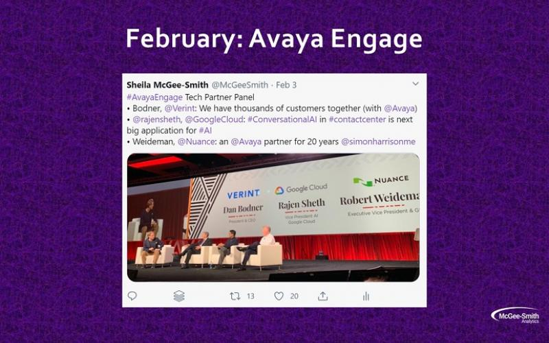 Picture from Avaya Engage in February 2020