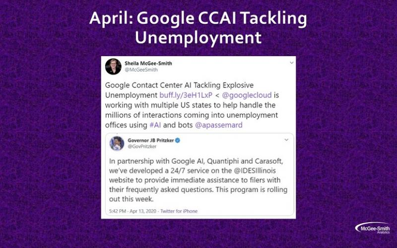 A tweet about Google CCAI