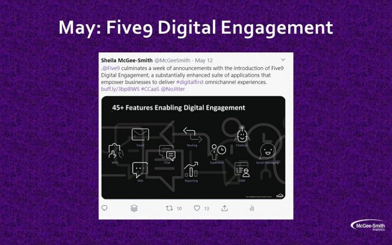 Tweet showing digital engagement features