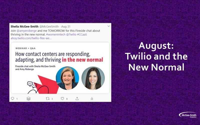 Tweet showcasing Sheila McGee-Smith, author, and Amy Roberge of Twilio