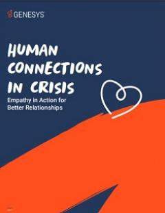 """Cover image of Genesys """"Human Connections in Crisis"""" whitepaper"""
