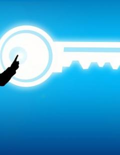 Security key for protecting customer data